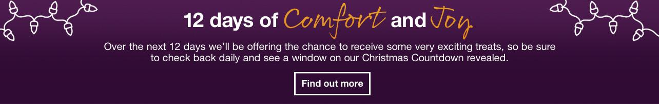 Twelve days of comfort and joy prize draw
