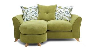 Abigail Pillow Back 2 Seater Lounger Sofa