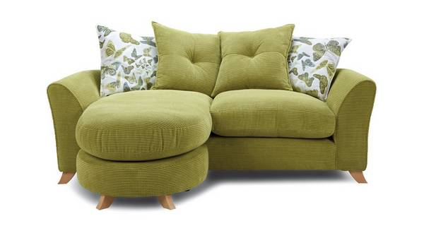 Abigail Pillow Back 3 Seater Lounger Sofa
