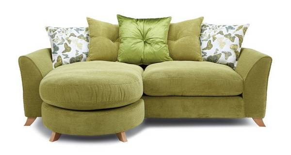Abigail Pillow Back 4 Seater Lounger Sofa