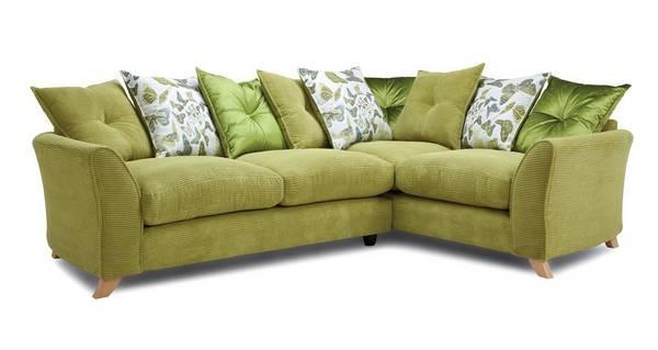 Abigail Pillow Back Left Hand Facing 3 Seater Corner Sofa