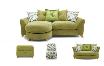 4 Seater Lounger, Cuddler, Chair & Stool Escape