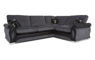 Left Hand Facing 3 Seater Formal Back Deluxe Corner Sofa Bed Myriad