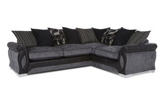 Left Hand Facing 3 Seater Pillow Back Deluxe Corner Sofa Bed Myriad