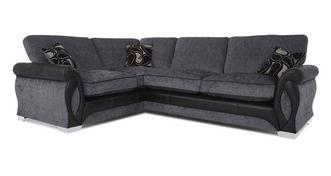 Acer Right Hand Facing 3 Seater Formal Back Deluxe Corner Sofa Bed