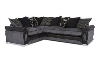 Right Hand Facing 3 Seater Pillow Back Deluxe Corner Sofa Bed Myriad