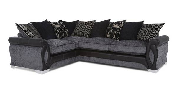 Acer Right Hand Facing 3 Seater Pillow Back Deluxe Corner Sofa Bed