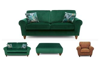 3 Seater Sofa, 2 Seater, Chair & Stool