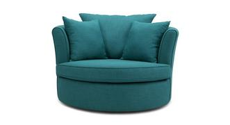 Adora Large Swivel Chair with Plain Scatters