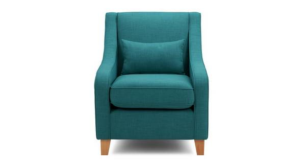 Adora Accent Chair with Plain Bolster