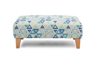 Pattern Banquette Footstool Adora Pattern