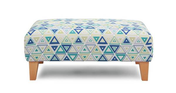 Adora Pattern Banquette Footstool