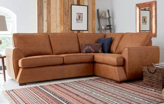 Afia Left Hand Facing 2 Seater Corner Sofa Condor