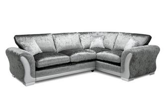 Formal Back Left Hand Facing Arm 3 Seater Supreme Corner Sofa Bed