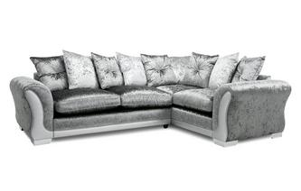 Pillow Back Left Hand Facing Arm 3 Seater Supreme Corner Sofa Bed