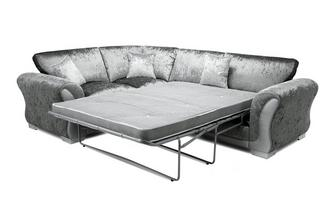 Formal Back Right Hand Facing Arm 3 Seater Deluxe Corner Sofa Bed