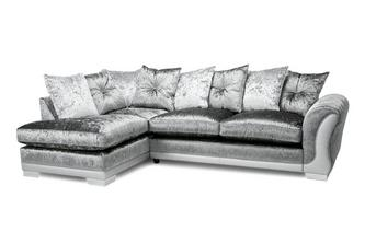 Pillow Back Right Hand Facing Arm 3 Seater Open End Corner Sofa