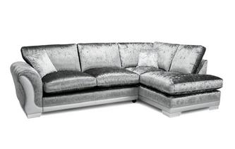 Formal Back Left Hand Facing Arm 3 Seater Open End Corner Sofa