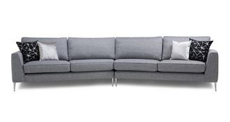 Akira Left Arm Facing Large Angled with Right Arm Facing Large Angled Sofa