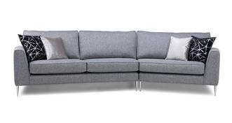 Akira Left Arm Facing Large Angled with Right Arm Facing Small Angled Sofa