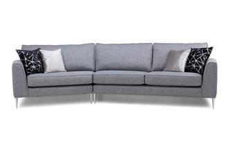 Left Arm Facing Small Angled With Right Arm Facing Large Angled Sofa