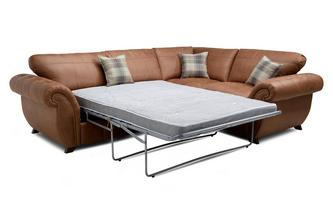 Formal Back Left Hand Facing 3 Seater Deluxe Corner Sofa Bed