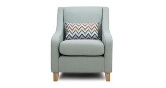 Albie Accent Chair with Pattern Bolster