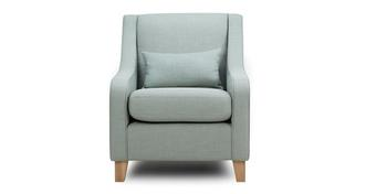 Albie Accent Chair with Plain Bolster