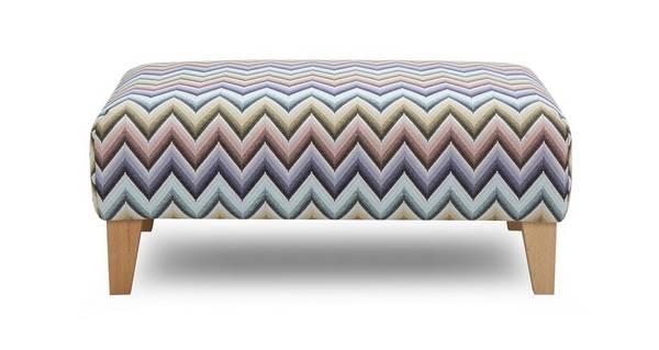 Albie Pattern Banquette Footstool