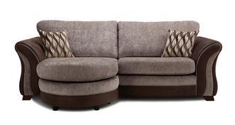 Albion 4-zits loungebank met traditionele rugkussens