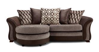 Albion 4-zits loungebank met losse rugkussens