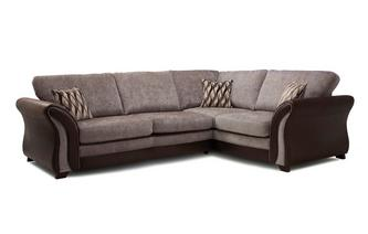 Left Hand Facing Formal Back 3 Seater Corner Sofa Chance