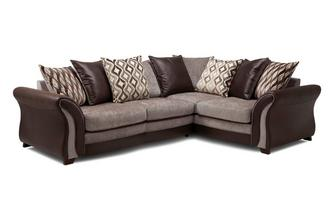 Left Hand Facing Pillow Back 3 Seater Corner Sofa Chance
