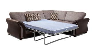 Albion Linkszijdige 3-zits Deluxe hoek-slaapbank met  traditionele kussens