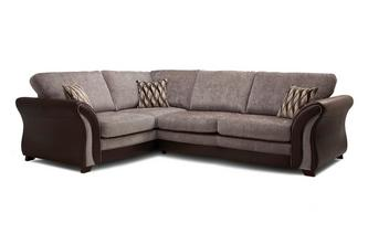 Right Hand Facing Formal Back 3 Seater Deluxe Corner Sofa Bed Chance