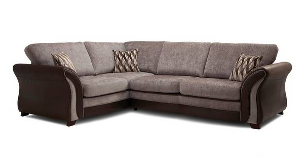Albion Right Hand Facing Formal Back 3 Seater Deluxe Corner Sofa Bed