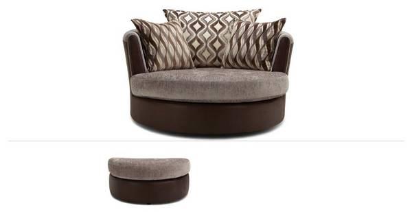 Albion Clearance Swivel Chair & Half Moon Footstool