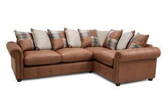 Pillow Back Left Hand Facing 3 Seater Corner Sofa Bed