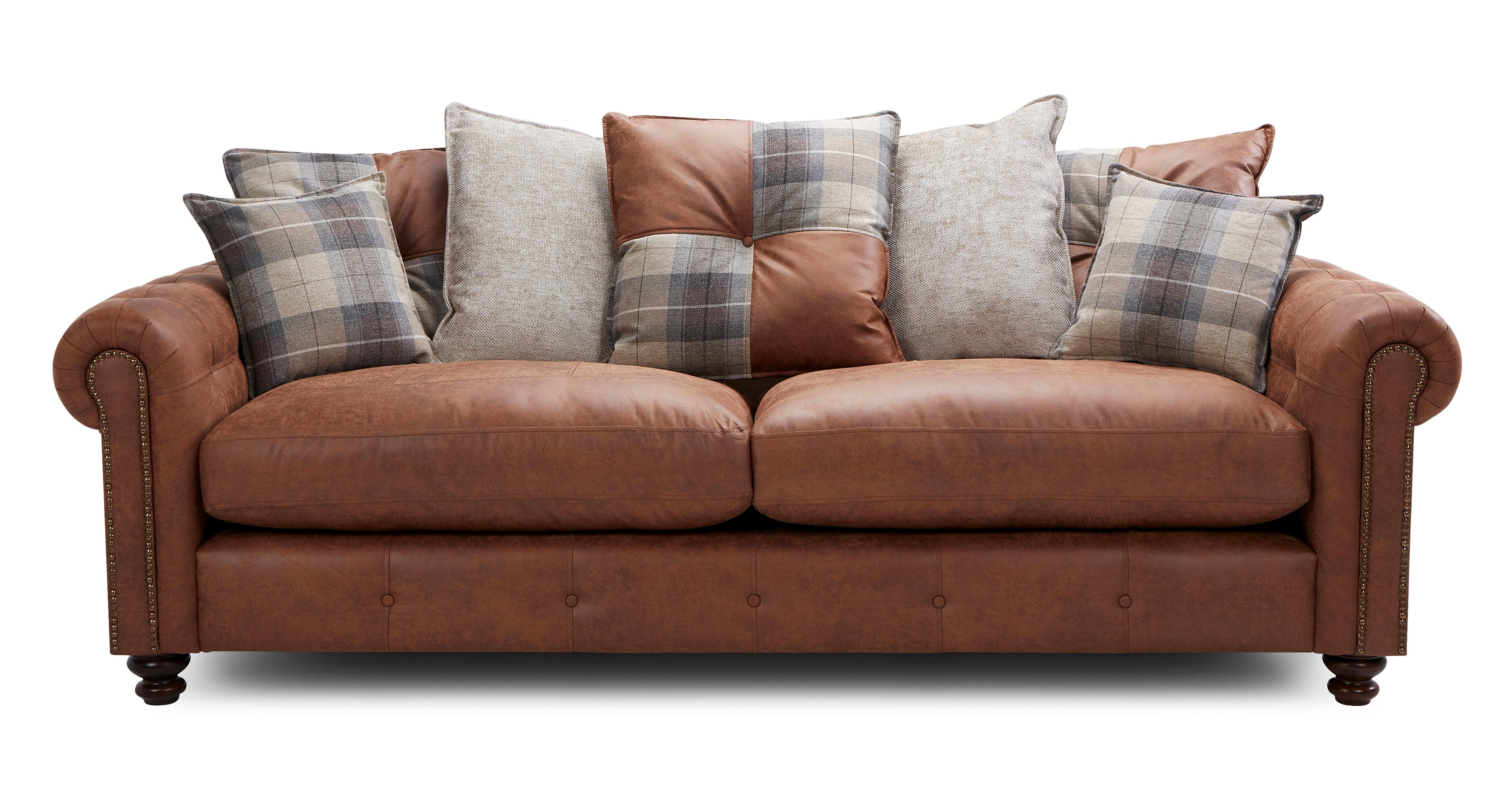 About the Alderley: Pillow Back 4 Seater Sofa