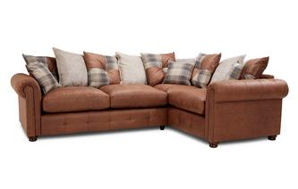 Pillow Back Left Hand Facing 3 Seater Corner Sofabed