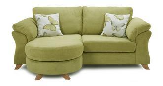 Alegra 3-zits loungebank met traditionele rugkussens