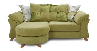 Alegra 3-zits loungebank met losse rugkussens