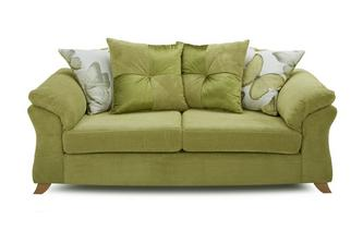 3 Seater Pillow Back Sofa Bed Capulet
