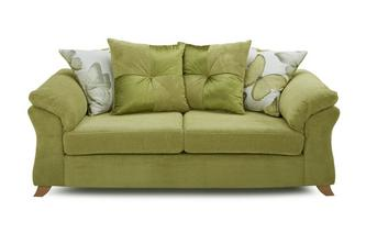 3 Seater Pillow Back Deluxe Sofa Bed Capulet