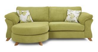 Alegra 4-zits loungebank met traditionele rugkussens