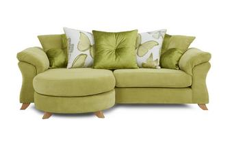 4 Seater Pillow Back Lounger Sofa Capulet