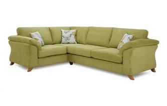 Right Hand Facing 3 Seater Formal Back Corner Sofa Capulet