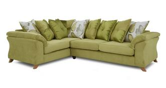 Alegra Right Hand Facing 3 Seater Pillow Back Corner Sofa
