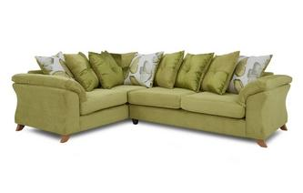 Right Hand Facing 3 Seater Pillow Back Corner Sofa Capulet