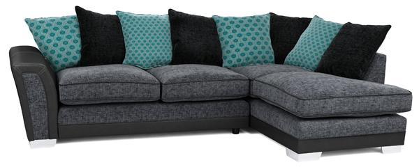 Alessio corner group sofa, left hand facing